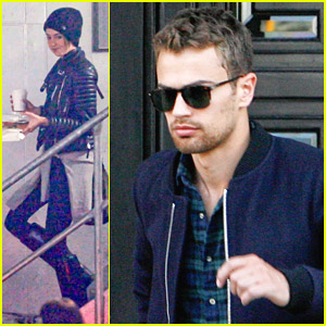 Shailene Woodley & Theo James: Berlin Hotel Exit After 'Divergent' Premiere