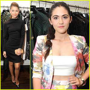 Zendaya & Isabelle Fuhrman Preview Christian Siriano's Fall 2014 Collection