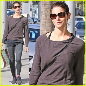 Ashley Greene Preps for Mother's Day at Paper Source