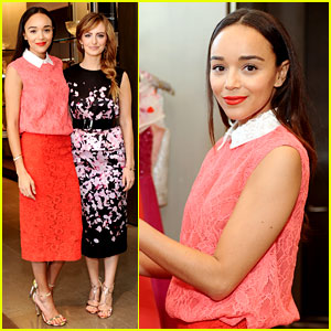 Ashley Madekwe Matches the Flowers at Monique Lhuillier Luncheon!