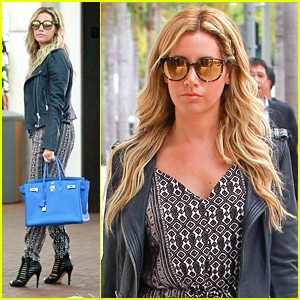 Ashley Tisdale Brings Birkin Bag For Beverly Hills Shopping Trip