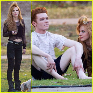 Bella Thorne & Cameron Monaghan Get Silly on 'Amityville' Set