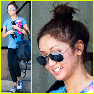 Brenda Song Keeps it Colorful After a Workout