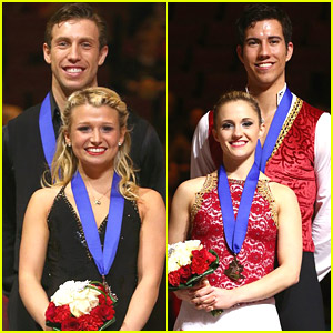 Canadian Pairs Skating Teams Kirsten Moore-Towers & Dylan Moscovitch, Paige Lawrence & Rudi Swiegers Split