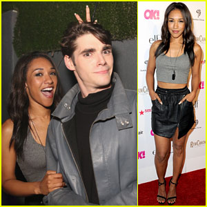 Candice Patton Gets Silly with RJ Mitte at 'OK! Magazine' Party!