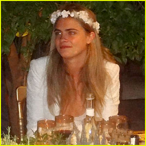 Cara Delevingne is a Flower Princess at Sister Poppy's Second Wedding!