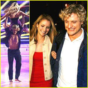 Charlie White & Tanith Belbin Meet Up at Mixology After Perfect Quickstep on 'DWTS'