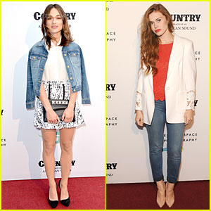 Crystal Reed & Holland Roden Show Their Country Side at Annenberg Space