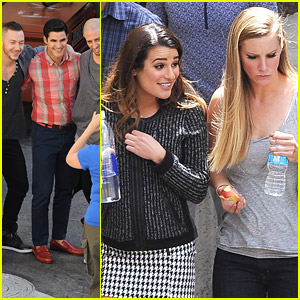 Darren Criss & Heather Morris Hit The Mall for 'Glee' Season Finale