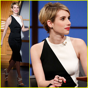Emma Roberts Debuts Shorter Hair on 'Late Night with Seth Meyers'! (Video)