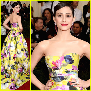Emmy Rossum: Floral Burst at MET Gala 2014