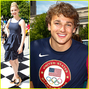 Olympians Gracie Gold & Nick Goepper Lead The Indy 500 Parade
