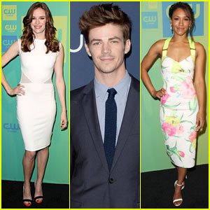 Grant Gustin & Danielle Panabaker Present 'The Flash' at The CW Upfronts!
