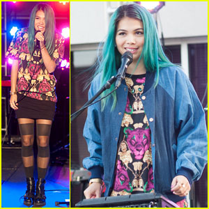 Hayley Kiyoko Takes a Break from 'Jem & the Holograms' Filming for College Concert!