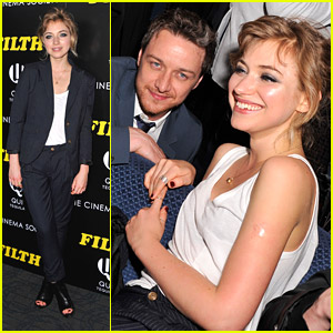 Imogen Poots Gets 'Filth'-y with James McAvoy in NYC