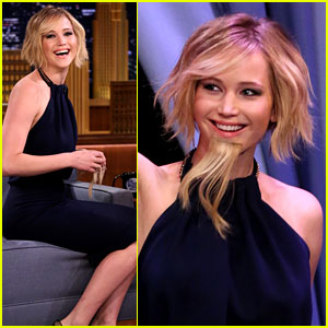 Jennifer Lawrence Wears a Beard for 'Fallon' Appearance!