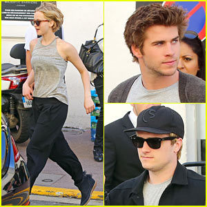 Jennifer Lawrence & 'Hunger Games' Studs Hang Out in Cannes