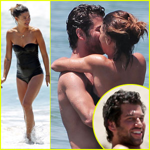 Jessica Szohr Kisses Mystery Man While Frolicking Around in the Ocean!