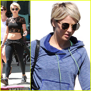Julianne Hough Shows Off Midriff at MAC Cosmetics Store