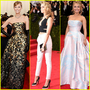 Karlie Kloss, Cara Delevingne & Hayden Panettiere Strike a Pose at the Met Gala 2014!