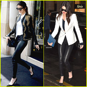 Kendall Jenner: Girl's Lunch with Kim Kardashian in Paris