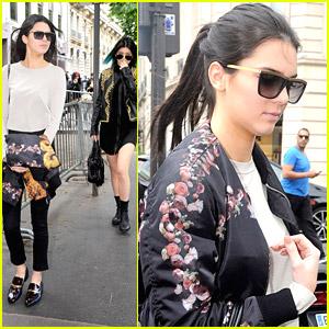 Kendall & Kylie Jenner Shop Around Paris Before Kim Kardashian's Weekend Wedding