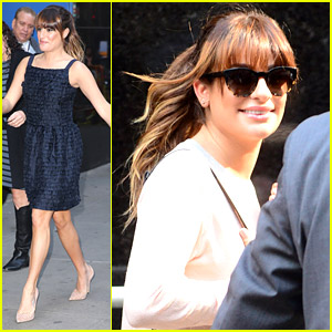Lea Michele Promotes 'Brunette Ambition' on GMA