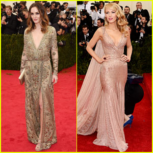 Leighton Meester & Blake Lively Go Glam at the Met Gala 2014!