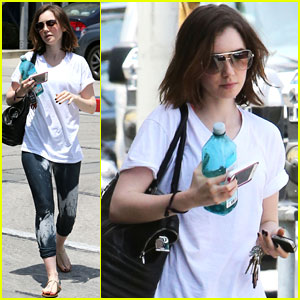Lily Collins Finishes Off Work Week with West Hollywood Gym Session