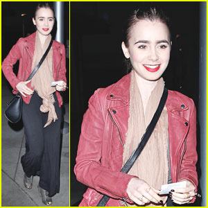 Lily Collins Goes Geek Chic at 'Spider-Man 2' Screening!
