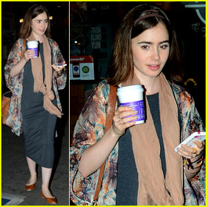 Lily Collins is New Fall Face of Barrie Knitwear!