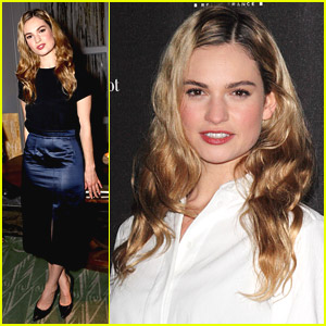 Lily James Debuts 'British Town & Country' Cover at Launch Party