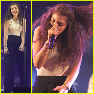 Lorde Whips Her Hair Back & Forth at Radio 1's Big Weekend