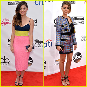 Lucy Hale & Sarah Hyland Walk the Red Carpet at Billboard Music Awards 2014