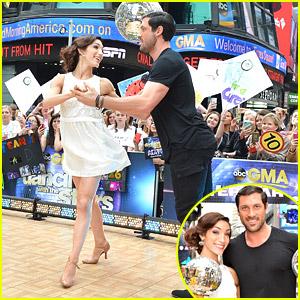 Meryl Davis & Maksim Chmerkovskiy Celebrate DWTS Win on 'GMA' with Amy Purdy & Derek Hough