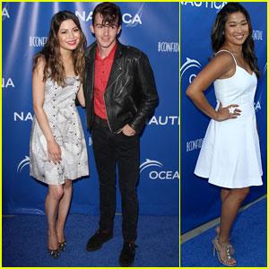 Miranda Cosgrove & Drake Bell Reunite at the Nautica Ocean Beach House Party!