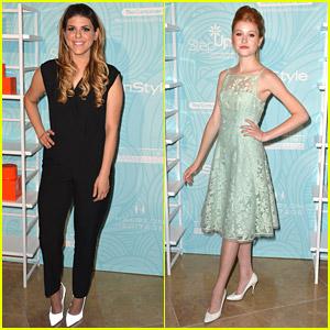 Molly Tarlov & Katherine McNamara 'Step Up' at Inspiration Awards 2014