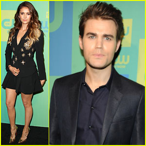 Paul Wesley & Nina Dobrev Attend The CW Upfronts Before 'The Vampire Diaries' Season Finale!
