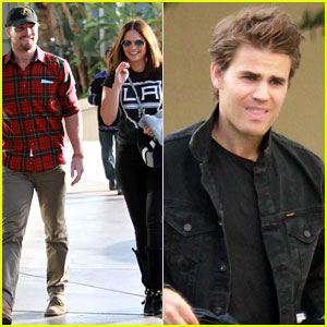 Paul Wesley & Stephen Amell Represent The CW at Kings Game!