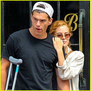Riley Keough Leans on Beau Ben Smith-Petersen in New York City
