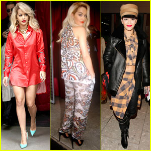 Rita Ora is a Red Bombshell in Paris