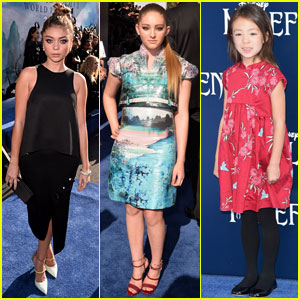 Sarah Hyland & Willow Shields Hit the 'Maleficent' Premiere Blue Carpet!
