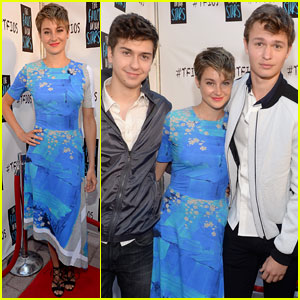 Shailene Woodley Talks Kissing 'Divergent' Brother Ansel Elgort for 'TFIOS'