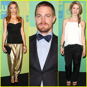 Stephen Amell & Katie Cassidy Join 'Arrow' Co-Stars at CW Upfronts 2014!