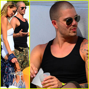 The Wanted's Max George Mingles with Bikini Babes in Marbella