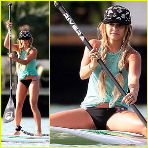 Vanessa Hudgens Show Off Major Paddleboarding Skills in Her Bikini!