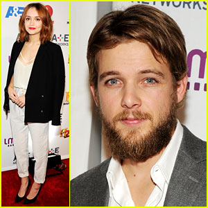 Max Thieriot Shows Off Bushy Beard at A&E Upfronts