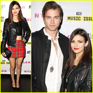 Victoria Justice Goes Rocker for 'Nylon' Party with Boyfriend Pierson Fode!