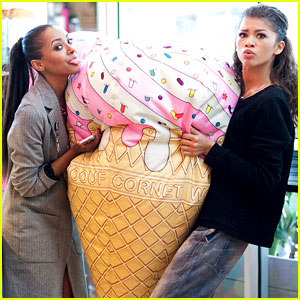Zendaya & Kat Graham Are Shopping BFF's!