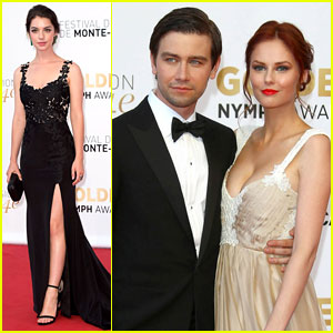 Adelaide Kane & Torrance Coombs Close Out Monte Carlo TV Festival!